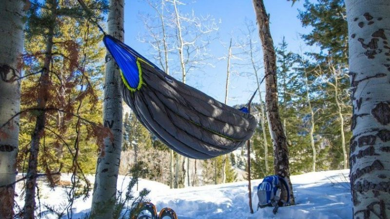 Outdoor Winter Warm Sleeping Bag Hammock Underquilt Sleeping Bag Warmer Under Quilt Blanket For Outdoor Camping Hiking Sleeping Bags