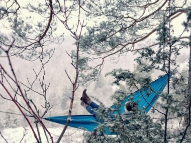 Cold Weather Winter Hammock Camping