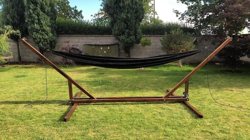 4 Great DIY Portable Hammock Stand Plans for Camping ...