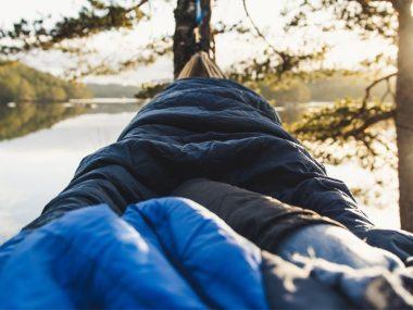 Sleeping in a Camping Hammock