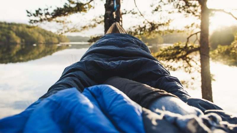 Sleeping in a Camping Hammock